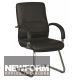 Linea Medium Back Leather Cantilever Chair